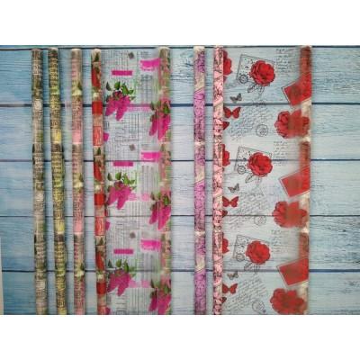 Пленка матовая Цветы 70см