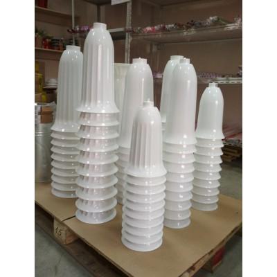 Вазы пластиковые (гладкие, рефленые)