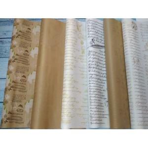 Крафт бумага с рисунком 70см*10м