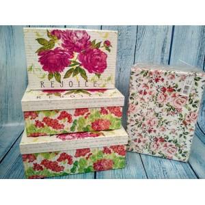 Коробки прямоугольные подарочные набор из 3-х