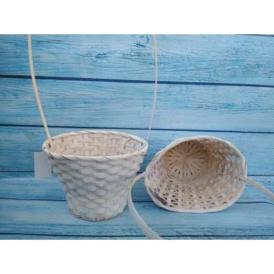 Корзина из бамбука Беленая