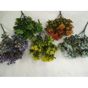 Шарики брусники 7веток, 35см