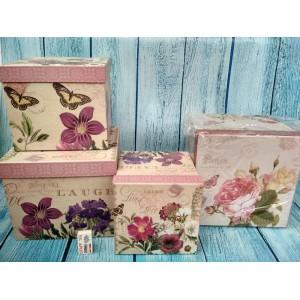 Коробочки квадратные подарочные набор из 3-х