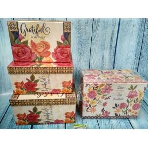 Коробочки прямоугольные подарочные набор из 3-х