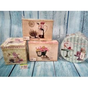 Коробочки подарочные прованс набор из 3-х