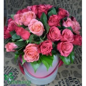 Цветы в шляпной коробке №139