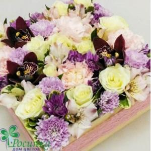 Цветы в коробках №432