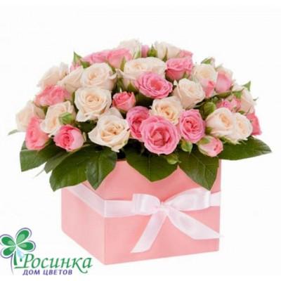 Цветы в коробках №530
