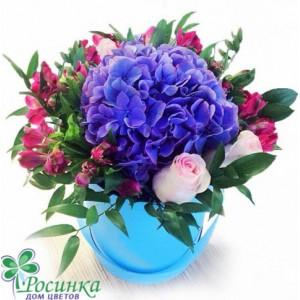 Цветы в шляпной коробке №141