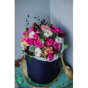 Цветы в коробках №527