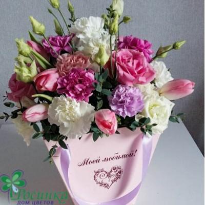 Цветы в коробке №140