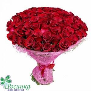 """Букет из 101 розы """"Недотрога"""" №219"""