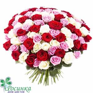 Букет №25 - 101 роза  60см