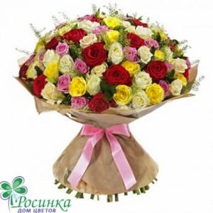 """101 роза  Букет """"Ассорти""""  №15"""