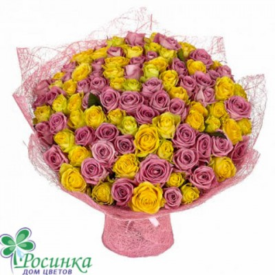 """Букет из 101 розы """"Милашка"""" №17"""