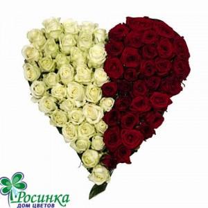 """Букет """"Сердечный"""" из 101 розы"""