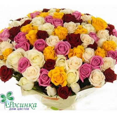 """Букет из 101 розы """"Семицветик"""" №229"""