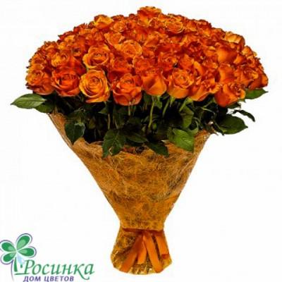 "101 роза ""Оранжевое чудо"" - Букет №23"