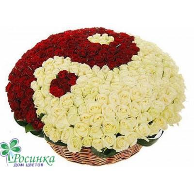 """Композиция """"Я и Ты"""" (333 розы) На заказ"""