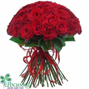Букет из 25 Красных Роз (60)см