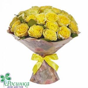 Букет 25 Желтых роз №244
