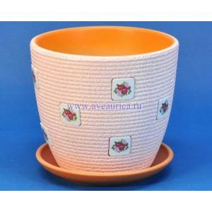"""Горшок """"Крокус """"Букетик"""" (розовый, 1.3 л)"""