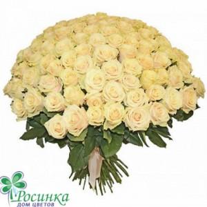 """Букет из 101 розы """"Крем"""" №534"""