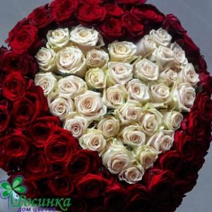 """101 Роза  """"Сердечность""""Букет №66"""
