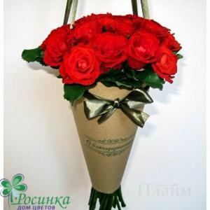 Розы в плайм упаковке №144