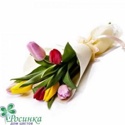 Букет №422- 7 тюльпанов