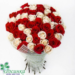 "51 Роза ""Жемчужинка""  Букет №420"