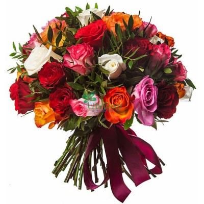 "Букет ""Радуга"" (51 роза)"