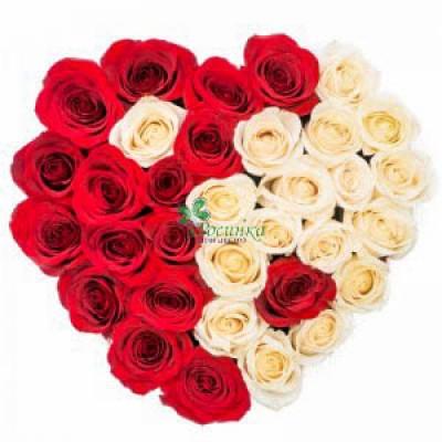 Сердце 35 Роз