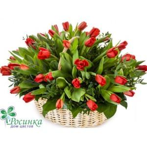 """Композиция """"Красные тюльпаны"""""""