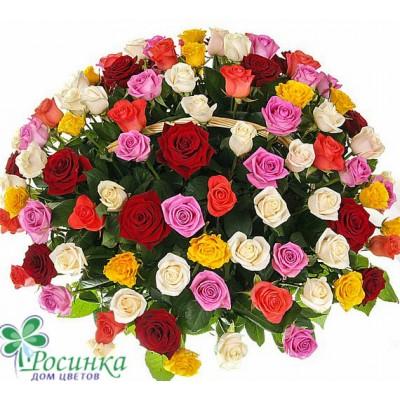 """Композиция """"Праздничный салют"""" (51, 101 или 201 роза)"""