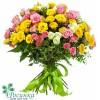 """Букет из 15 кустовых роз """"Пушинка"""""""