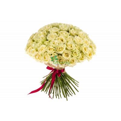"""Букет """"Поцелуй ангела"""" из 51 розы"""