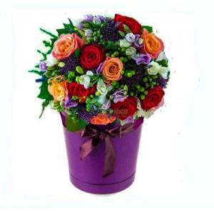 """Цветы в шляпной коробке """"Топаз"""""""