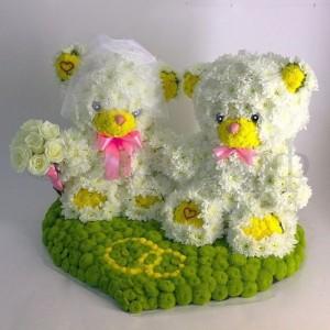 Игрушки из цветов №1