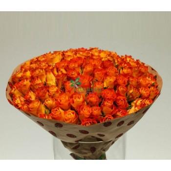 Букет из 101 Кенийской розы