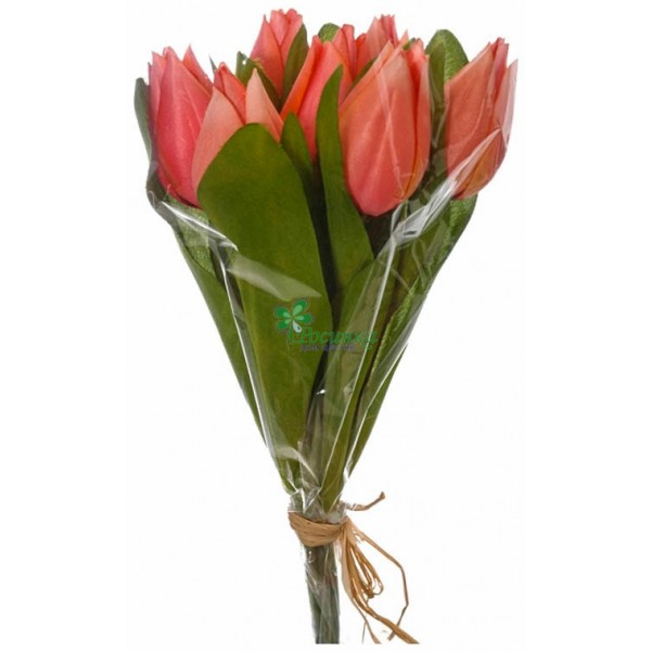 Букеты из слюды и тюльпанов, цветов заказ