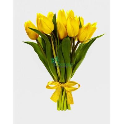 Букет из 9 тюльпанов