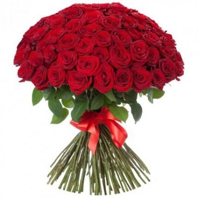 Букет 101 Роза с доставкой по Новосибирску, Купить розы недорого в Новосибирске
