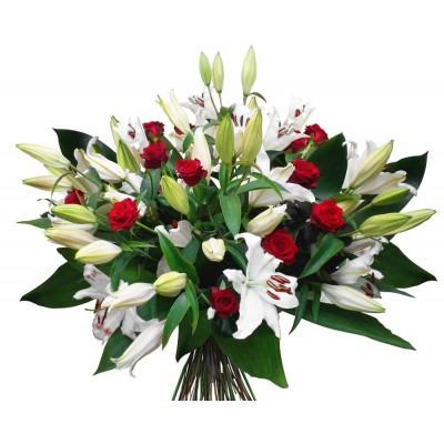 Букет лилий для любимой, коллеги или невесты